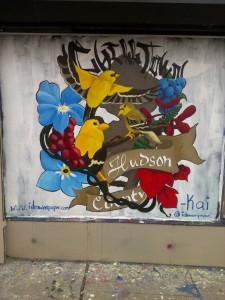 Hudson County Art Supply Window.
